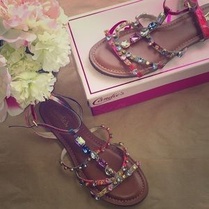 Multicolor Gem Studded Shoes